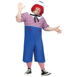Raggedy Andy Plus Size Adult Costume