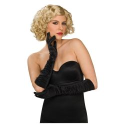 Elbow Length Satin Stretch Gloves