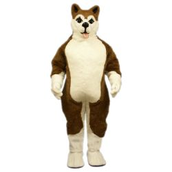 Brown Husky Dog Mascot - Sales
