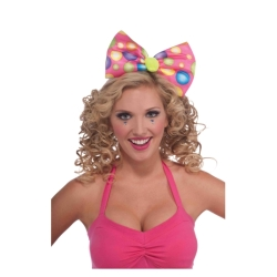 Circus Sweetie Clown Bow Headband