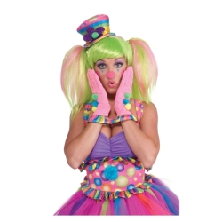 Circus Sweetie Ruffled Clown Gloves
