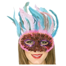 Assorted Feathered Half Mask
