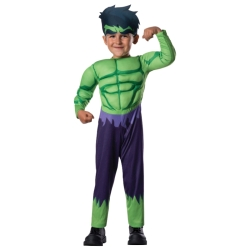 Avengers Hulk with Muscles Toddler Costume