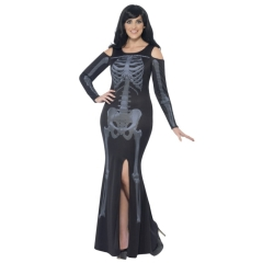 Curves Skeleton Dress Adult Costume