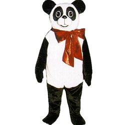 Christmas Panda Mascot. This  Christmas Panda Mascot comes complete with head, body, hand mitts and foot covers.. This is a sale item. Manufactured from only the finest fabrics. Fully lined and padded where needed to give a sculptured effect. Comfortable to wear and easy to maintain. All mascots are custom made. Due to the fact that all mascots are made to order, all sales are final. Delivery will be 2-4 weeks. Rush ordering is available for an additional fee. Please call us toll free for more information. 1-877-218-1289