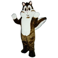 Calvin Chipmunk Mascot. This Calvin Chipmunk mascot comes complete with head, body, hand mitts and foot covers. This is a sale item. Manufactured from only the finest fabrics. Fully lined and padded where needed to give a sculptured effect. Comfortable to wear and easy to maintain. All mascots are custom made. Due to the fact that all mascots are made to order, all sales are final. Delivery will be 4-6 weeks. Rush ordering is available for an additional fee. Please call us toll free for more information. 1-877-218-1289