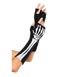 Fingerless Skeleton Gloves