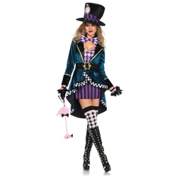 Alice in Wonderland Delightful Hatter Mad Hatter Sexy Adult Costume