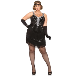 Glamour Flapper Sexy Plus Size Adult Costume