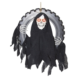 Animated Reaper Tire Swing Halloween Decoration