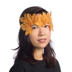 Autumn Fairy Leaf Eye Mask