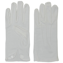 Extra Large White Men's Parade Dress Gloves