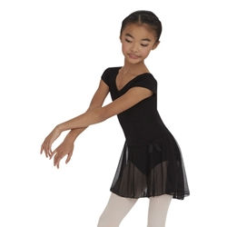 Kids Short Sleeve Nylon Dance Dress - Capezio® 3966C