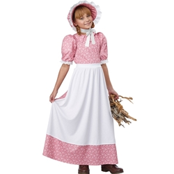 Early American Girl Kids Costume