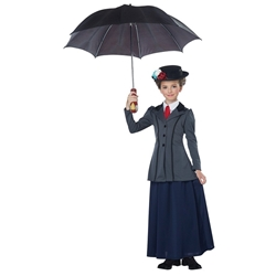 English Nanny Kids Costume