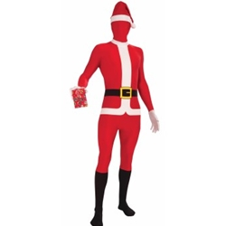 Disappearing San Santa Suit Adult Costume Skinsuit