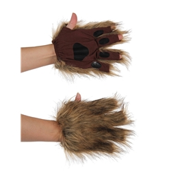 Brown Squirrel Fingerless Paws