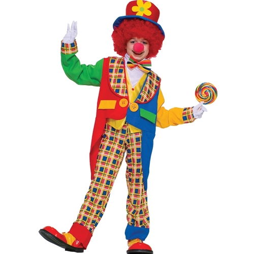 Clown on the Town Kids Costume