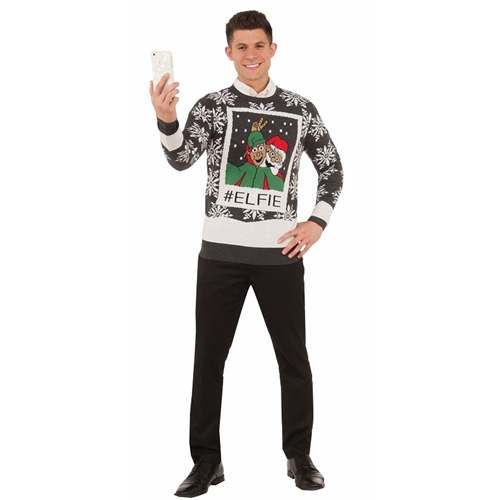 Elfie Sweater Adult Costume