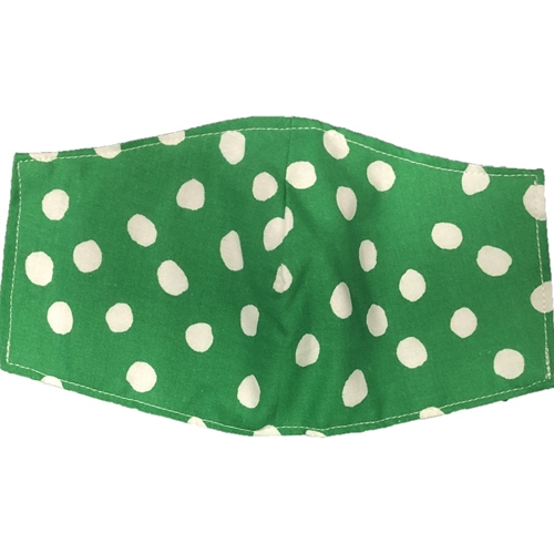 Green Polka Dot Face Mask Adult or Youth