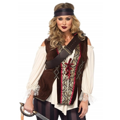 Captain Blackheart Sexy Plus Size Adult Costume
