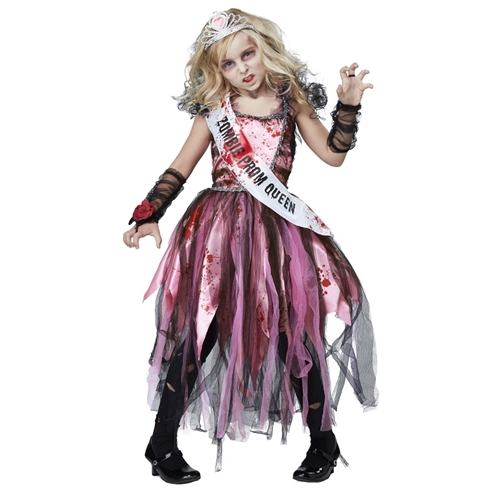 Zombie Prom Queen Kids Costume
