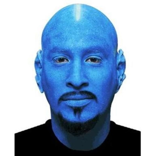 Blue Bald Cap