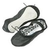 Black Daisy Ballet Slippers - Toddler - Wide