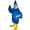 Blue Jay Mascot. This Blue Jay mascot comes complete with head, body, hand mitts and foot covers. This is a sale item. Manufactured from only the finest fabrics. Fully lined and padded where needed to give a sculptured effect. Comfortable to wear and easy to maintain. All mascots are custom made. Due to the fact that all mascots are made to order, all sales are final. Delivery will be 2-4 weeks. Rush ordering is available for an additional fee. Please call us toll free for more information. 1-877-218-1289