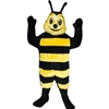Buzz Bee Mascot. This Buzz Bee mascot comes complete with head, body, hand mitts and foot covers. This is a sale item. Manufactured from only the finest fabrics. Fully lined and padded where needed to give a sculptured effect. Comfortable to wear and easy to maintain. All mascots are custom made. Due to the fact that all mascots are made to order, all sales are final. Delivery will be 2-4 weeks. Rush ordering is available for an additional fee. Please call us toll free for more information. 1-877-218-1289