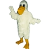 Cartoon Pelican Mascot. This Cartoon Pelican mascot comes complete with head, body, hand mitts and foot covers. This is a sale item. Manufactured from only the finest fabrics. Fully lined and padded where needed to give a sculptured effect. Comfortable to wear and easy to maintain. All mascots are custom made. Due to the fact that all mascots are made to order, all sales are final. Delivery will be 2-4 weeks. Rush ordering is available for an additional fee. Please call us toll free for more information. 1-877-218-1289
