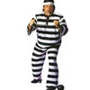 Convict Man Adult - Plus Costume