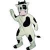 Cow Mascot. This Cow mascot comes complete with head, body, hand mitts and foot covers. This is a sale item. Manufactured from only the finest fabrics. Fully lined and padded where needed to give a sculptured effect. Comfortable to wear and easy to maintain. All mascots are custom made. Due to the fact that all mascots are made to order, all sales are final. Delivery will be 2-4 weeks. Rush ordering is available for an additional fee. Please call us toll free for more information. 1-877-218-1289
