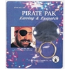 Earring & Eyepatch Pirate Pak