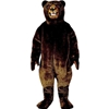 Growling Grizzly Mascot. This Growling Grizzly mascot comes complete with head, body, hand mitts and foot covers. This is a sale item. Manufactured from only the finest fabrics. Fully lined and padded where needed to give a sculptured effect. Comfortable to wear and easy to maintain. All mascots are custom made. Due to the fact that all mascots are made to order, all sales are final. Delivery will be 2-4 weeks. Rush ordering is available for an additional fee. Please call us toll free for more information. 1-877-218-1289