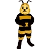 Honey Bee Mascot. This Honey Bee mascot comes complete with head, body, hand mitts and foot covers. This is a sale item. Manufactured from only the finest fabrics. Fully lined and padded where needed to give a sculptured effect. Comfortable to wear and easy to maintain. All mascots are custom made. Due to the fact that all mascots are made to order, all sales are final. Delivery will be 2-4 weeks. Rush ordering is available for an additional fee. Please call us toll free for more information. 1-877-218-1289