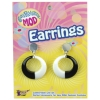 Mod Earrings Black and White