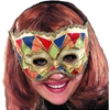 Multi-Color Venetian Half Mask