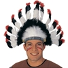 Native American Headdress - Basic Black, Red and White