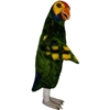 Parrot Mascot. This Parrot mascot comes complete with head, body, hand mitts and foot covers. This is a sale item. Manufactured from only the finest fabrics. Fully lined and padded where needed to give a sculptured effect. Comfortable to wear and easy to maintain. All mascots are custom made. Due to the fact that all mascots are made to order, all sales are final. Delivery will be 2-4 weeks. Rush ordering is available for an additional fee. Please call us toll free for more information. 1-877-218-1289