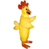 Plucky Chicken Mascot. This Plucky Chicken mascot comes complete with head, body, hand mitts and foot covers. This is a sale item. Manufactured from only the finest fabrics. Fully lined and padded where needed to give a sculptured effect. Comfortable to wear and easy to maintain. All mascots are custom made. Due to the fact that all mascots are made to order, all sales are final. Delivery will be 2-4 weeks. Rush ordering is available for an additional fee. Please call us toll free for more information. 1-877-218-1289