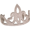 Silver Sequin Tiara with Combs