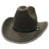 Tall Texan Cowboy Hat with Leather Band