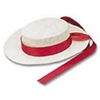 White Straw Gondolier Hat