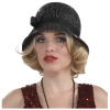 Sequin Flapper Cloche Hat