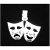 Comedy & Tragedy Mask Pendant