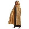Hooded Metallic Cape