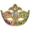 Color Changing Mardi Gras Half Mask