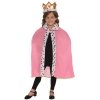 Pink Queen's Cape & Crown Kids Costume