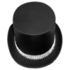 Satin Top Hat with Rhinestone Band